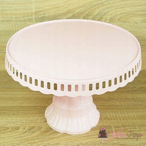 Patera na ciasto tort 28 cm - różowa