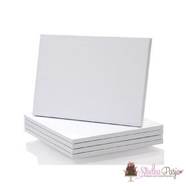 Podkład pod tort prostokątny 30 cm x 40 cm biały