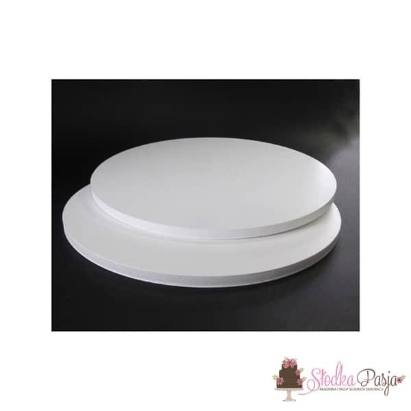 Podkład pod tort Aleksander Print grubość 1 cm biały okrągły- 25cm