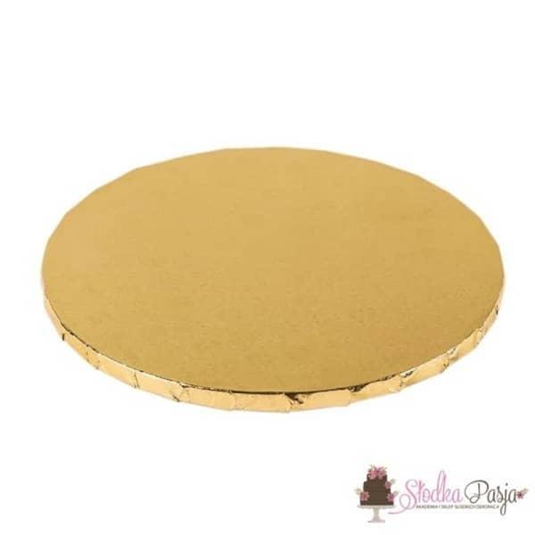 Podkład pod tort okrągły 20 cm - złoty