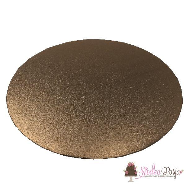Podkład pod tort okrągły 30 cm - brązowy