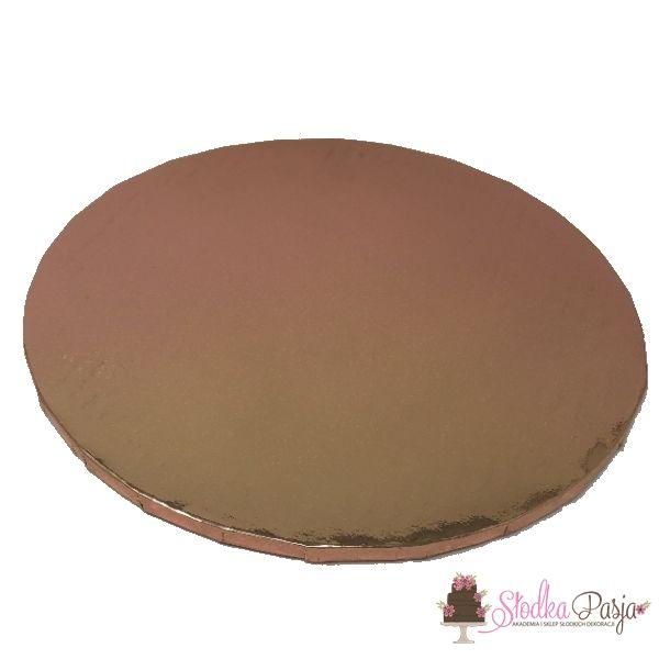 Podkład pod tort okrągły 30 cm - różowe złoto rosegold