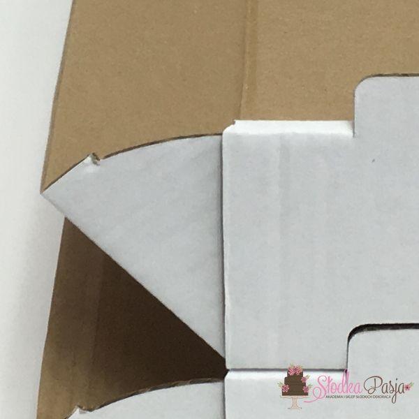 pojemnik na ciasto biały - 37x27x8