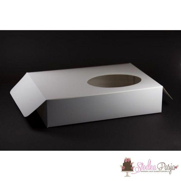 Pudełko na ciastka z okienkiem 325x235x75