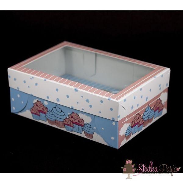 Pudełko z nadrukiem z okienkiem na 6 muffinek