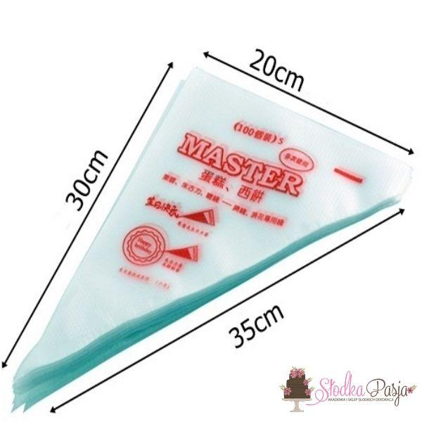 Rękaw worki do dekoracji tortów 35 cm - 100 szt