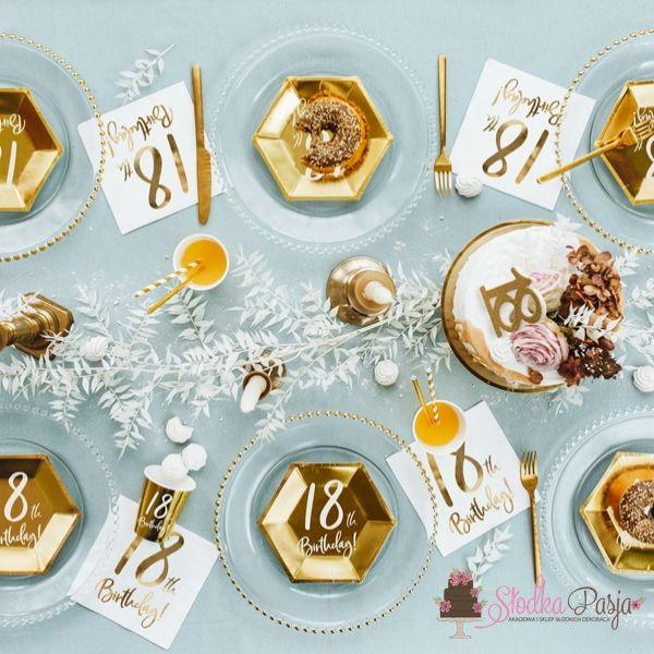 Świeczka urodzinowa liczba 18 złota