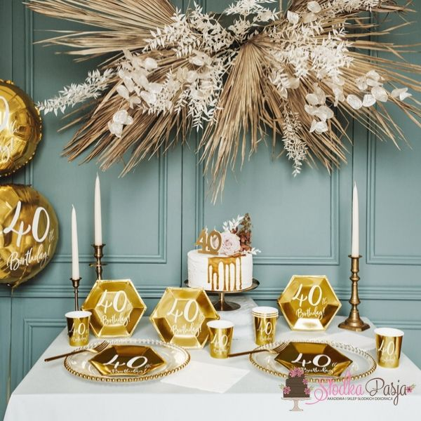 Świeczka urodzinowa liczba 40 złota