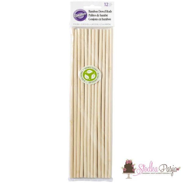 Wsporniki bambusowe do tortów Wilton - 12 szt