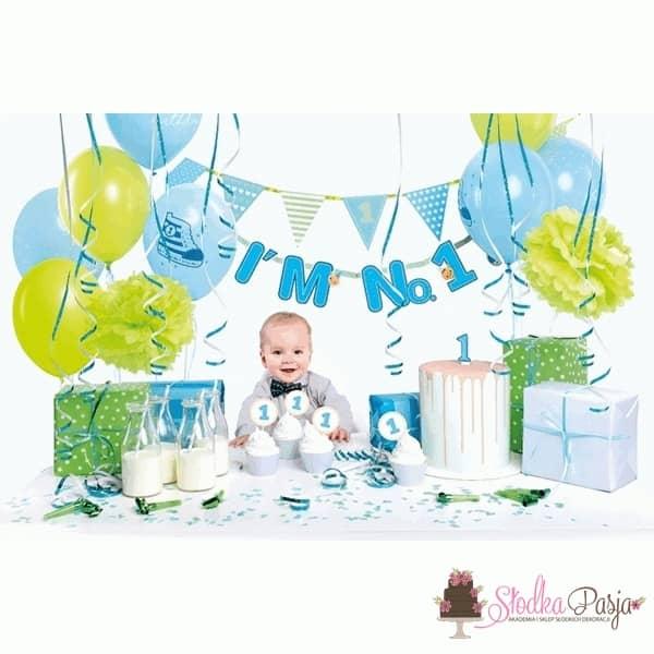 Zestaw  Zestaw urodzinowy dla dzieci I'm no. 1 niebieski