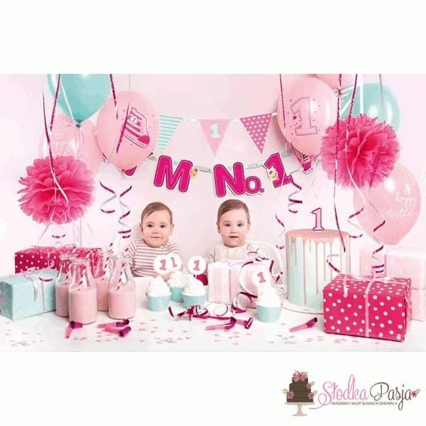 Zestaw urodzinowy dla dzieci I'm no. 1 różowy